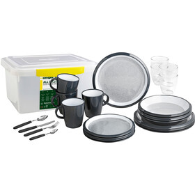 Brunner All Inclusive Dishes Set 36 Pieces, gris/blanco